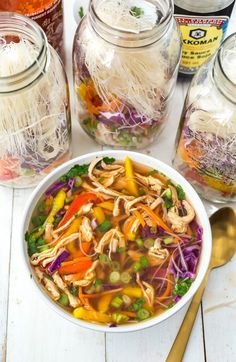 Mason Jar Instant Noodle Soup Cups | The Girl on Bloor