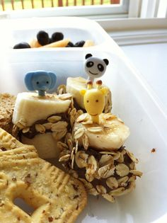 Nutella-oat banana bites
