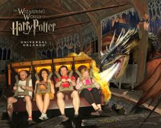 Harry Potter World Universal Studios Florida - Unidentified people on the Harry Potter ride.....its awesome!