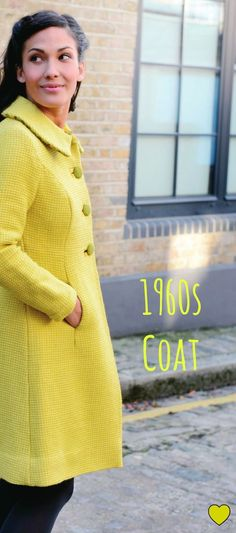 Coats Gorgeous coat from The Great British Sewing Bee: Fashion with Fabric (Quadrille, Sewing Patterns Free, Clothing Patterns, Free Sewing, Sewing Ideas, Great British, British Style, 1960s Fashion, Vintage Fashion, Vintage Sewing Machines