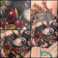 Aimee Cornwell -  (Unfinished) Raccoon Tattoo