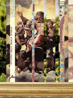 Dada Shojai, dopemoneyhoes (work in progress) #art #collage #god #dope #money #hoes #dopemoneyhoes #dogs #bitches #gold