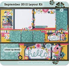 september 2012 premier scrapbook designs layout kit with instructions precut design scrapbooking layouts