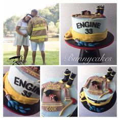 Fireman baby shower cake created by Bunnycakes ❤️