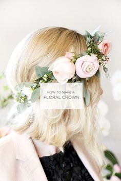 Easy DIY Flower Crown - Beautiful Inspiration and The Best Tutorials - Victoria Millesime Flower crowns are a super popular choice among brides today. Here I show you some incredible inspiration and some of the best DIY Flower Crown tutorials. Flower Crown Tutorial, Diy Flower Crown, Diy Crown, Diy Flowers, Flower Crown Headband, Floral Flowers, Diy Baby Headbands, Diy Headband, Floral Headbands