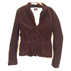 """NWOT J. Crew brown corduroy blazer NWOT J. Crew chocolate brown corduroy button up blazer. Fully lined, size medium. Arms measure about 21"""" in length. Beautiful button detail on collar and cuffs. Bundle and save!$       No trades, please use offer button. J. Crew Jackets & Coats Blazers"""