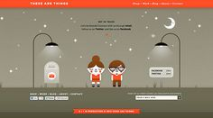 These Are Things | Cute interactive site