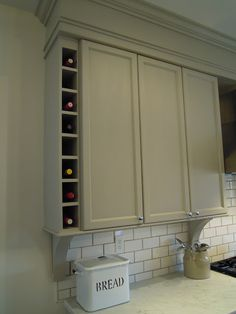 """If I decide to use the existing cabinets - this crown molding would be a great way to hide the huge """"forehead"""" on the cabinets."""