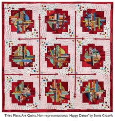 Happy Dance by Sonia Grasvik. 2017 Quilt Winners at the Northwest Quilting Expo