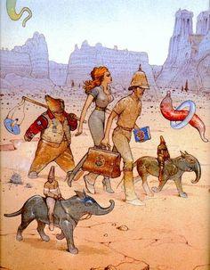 Ilustración de Jean Giraud (Moebius).