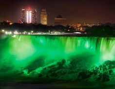 In partnership with Tourism Ireland's 'Global Greening' campaign, #NiagaraFalls will be illuminated green on March 17 for St. Patrick's Day, 9pm & 9:30pm. #NiagaraUSA  Photo and information is from Explore Niagara Falls USA on facebook.com/NiagaraFallsUSA
