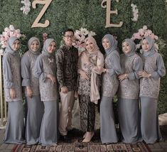 Wedding Day Weddings Planner Plan Planning Your Big Day Dress Muslim Modern, Kebaya Modern Dress, Dress Brokat Muslim, Kebaya Muslim, Hijab Dress Party, Hijab Style Dress, Hijab Gown, Kebaya Wedding, Muslimah Wedding Dress