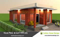 Searching for Indian Home Design Single floor 2 bedroom plan ? then hee is a modern low budget floor plan from the Indian Home Design. Indian Home Design, Kerala House Design, Modern House Design, Modern Houses, Modular Home Manufacturers, Low Budget House, Free House Plans, Kerala Houses, House Elevation
