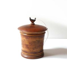 Antique wooden string box 19th century Workshop Decor Home