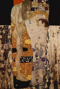 Best Art Reproduction The Three Ages of Woman c. Gustav Klimt Paintings for sale hand painted High quality Gustav Klimt, Art Klimt, Art Du Monde, Pics Art, Art Graphique, Art Plastique, Figurative Art, Japanese Art, Oeuvre D'art