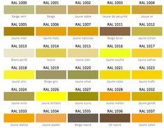 53 Meilleures Images Du Tableau Nuancier Jaune Paint Colors Color
