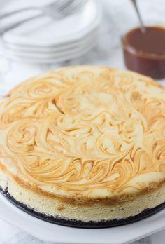 Irish Cream Cheesecake - creamy bailey's cheesecake with whiskey caramel.