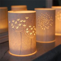 papercut lamps | craftgawker....