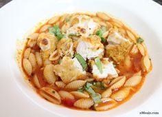 Chicken Parmesan and Cavatappi Soup