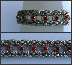 Byzantine bracelet with small Swarovski Chatons