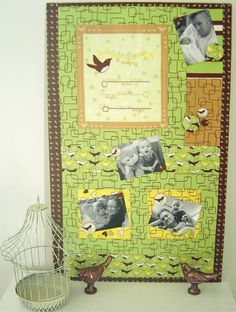 super memory album in wall version. will be making this for the next baby in family :)... download instructions, from robert kauffman fabrics