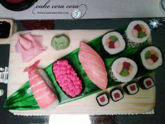 Sushi Cake  by Cake Cera Cera www.CakeCeraCera.com