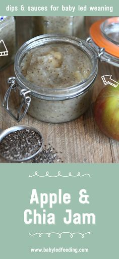 This lovely Apple and Chia Jam is a great healthy spread to use when baby led weaning. It's rich in Omega-3 and high in its fibre contents.