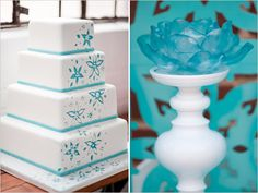 I love the wedding cake. Of course the the color will be more of an aqua color and there will be no stars. The blue stripes will be a lot thicker though.