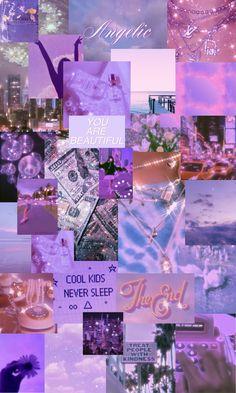 purple bling aesthetic iphone wallpaper