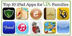 Top 10 iPad Apps for LDS Families- we have all of these now & some we could take or leave but others have become part of daily habit now! Hopefully for the good! Especially when Hollie likes them! Will blog about them soon & add some of my own that aren't on here!