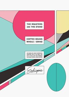 "RAPYARD ""THE ROASTERS AND THE STAND"" 2015 Coffee shop posters / 2016 TDC Prize Nominee Work [ Poster Category ]"