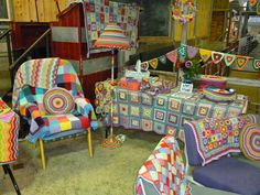 MarmaladeRose   Attic 24 in the Knit and Natter lounge.  Yarndale Skipton Yorkshire