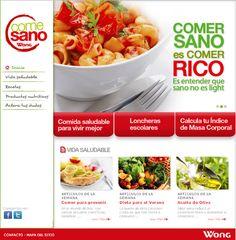 ..:: ''COME SANO'', NUEVO SITE DE SUPERMERCADOS WONG | Noticias - Mercado Negro.pe::..