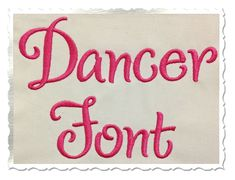$2.95Dancer Machine Embroidery Font Alphabet