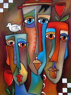 Pop Art Painting - This Moment By Fidostudio by Tom Fedro - Fidostudio Pintura Graffiti, Abstract Face Art, Abstract Paintings, Art Paintings, Art Visage, Cubist Art, Arte Pop, Whimsical Art, African Art