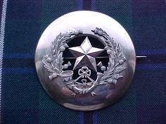 The Bn Cameronians(Scottish Rifles) Piper's plaid brooch. Scottish Dress, Scottish Plaid, Celtic Warriors, Highlanders, Cold Steel, Silver Lining, Commonwealth, Rifles, Swords