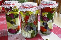 Pickled sheep cheese (recipe with picture) from petra. Grilling Recipes, Cooking Recipes, Low Carb Recipes, Diet Recipes, Chutneys, Law Carb, Sheep Cheese, Party Buffet, Snacks Für Party