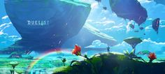 Dive into The Art of Anton Fadeev, a Russian Environment Concept Artist based in Sochi. Landscape Concept, Fantasy Landscape, Landscape Art, Fantasy Places, Fantasy World, Fantasy Art, Environment Concept Art, Environment Design, Game Design