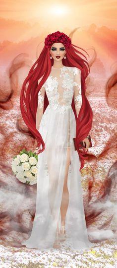 Red Hair Woman, Covet Fashion, Art Girl, Doodles, Barbie, Magic, Fantasy, Stickers, Female