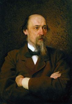 1877 Portrait of the poet Nikolai Nekrasov - Ivan Kramskoy