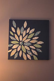 Scrapbook flower on canvas!