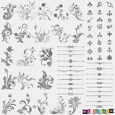 INSTANT DOWNLOAD Floral Page Decorative by SasiyaDesigns on Etsy, $5.00