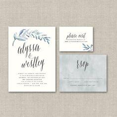 Organic Wedding Invitation Suite DEPOSIT DIY by SplashOfSilver