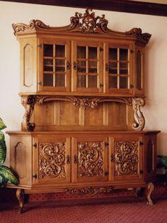Beautiful carved cupboard