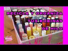 - YouTube Ideas Para Organizar, Ice Cube Trays, Handicraft, Diy, Sewing, Youtube, Garage, Paper, Thread Holder