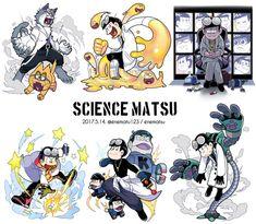 Science-matsu by enematsu Character Personality, Character Design, Anime Guys, Manga Anime, Anime Art, Ichimatsu, Sans Art, Osomatsu San Doujinshi, Star Wars Droids