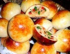 Pãozinho de batata recheado com frango e catupiry - Ideal Receitas