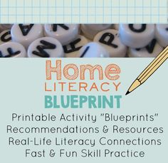 "Home Literacy Blueprint: A blog that helps parents build literacy-rich homes  You'll find printable activity ""blueprints,"" recommendations and resources, real-life literacy connections, and fast, fun skill practice ideas."