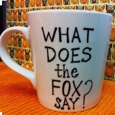 What does the fox say??! Please know:: EACH mug u see in the pics will LOOK AS CLOSE AS POSSIBLE to the mug you receive in the mail! Please note: you are paying for the design; not the mug:) I out A TON of love and dedication into each and every mug that is ordered! Also, I ship out as soon as I get your mug! I do buy each mug plain and craft myself! Reminder, it is the holidays so I am crammed with other ordered mugs!!✨☕️ Other