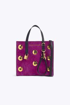 455a36a5d2bb Marc Jacobs Suede Mini Grind Tote Bag - Berry Mini